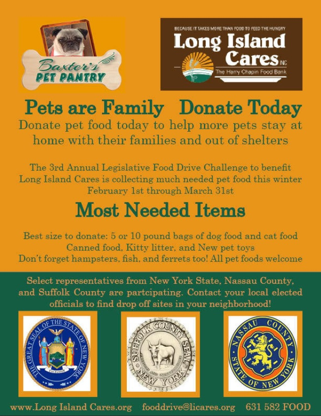 Legislator Hahn And Baxter S Pet Pantry Not Playing Dead