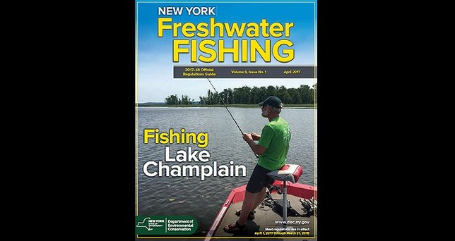 New york freshwater fishing regulations guides available for Can you get a fishing license at walmart