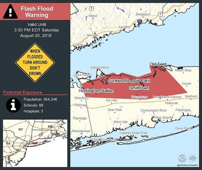 Flash Flood Warning In Effect For Suffolk County