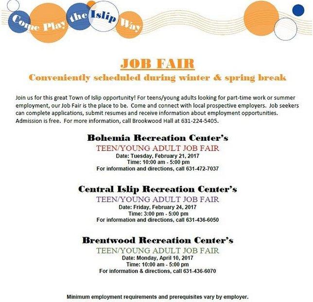 Job Fairs Long Island Ny