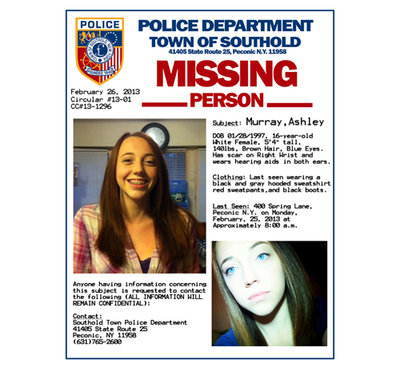 Police Need Help Finding Missing Peconic Teen, Ashley ...