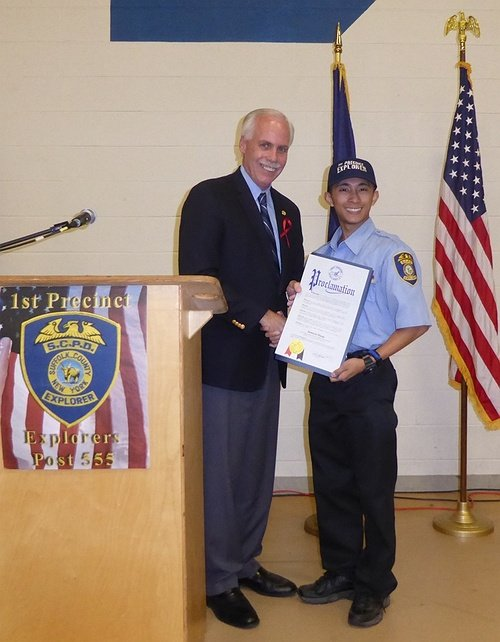 Suffolk Police Explorer To Receive Distinguished National Award