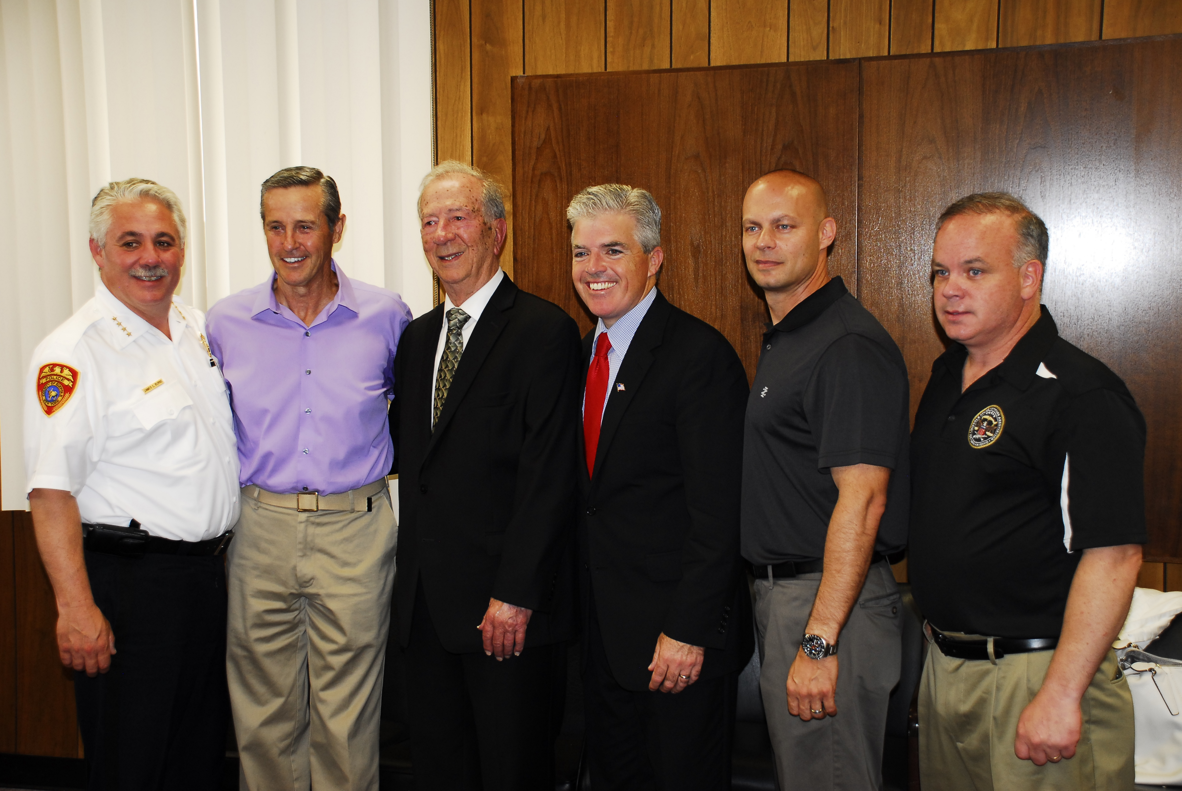 SCPD Honored WW II Veteran Frank Agoglia At Reception