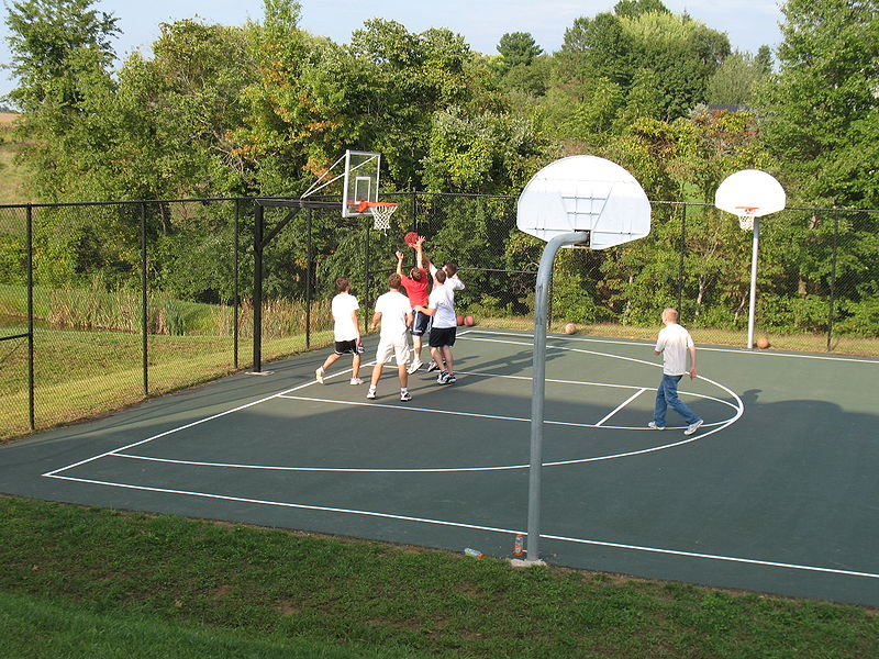 Long island basketball courts great places to shoot for Diy sport court
