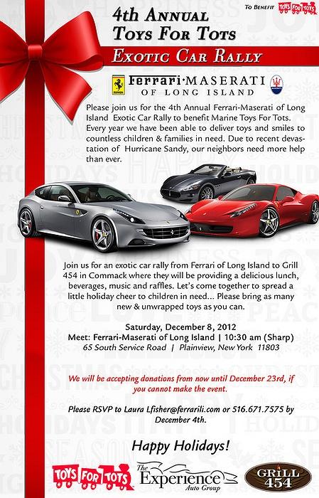 Ferrari Maserati Of Long Islandu0027s 4th Annual Toys For Tots Exotic Car Rally