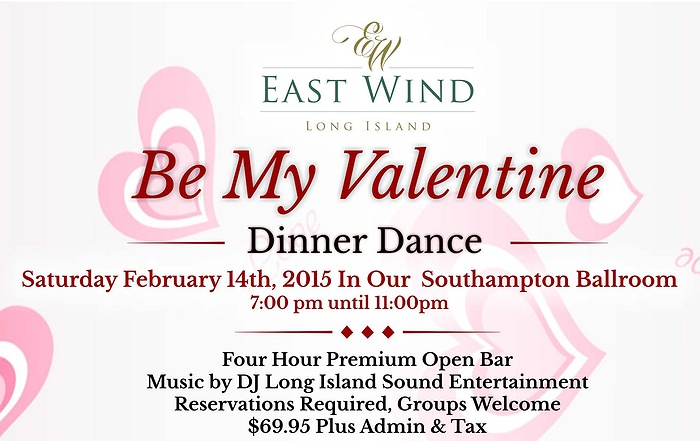 Be my valentine dinner dance at the inn spa at east wind - Long island dulux valentine ...