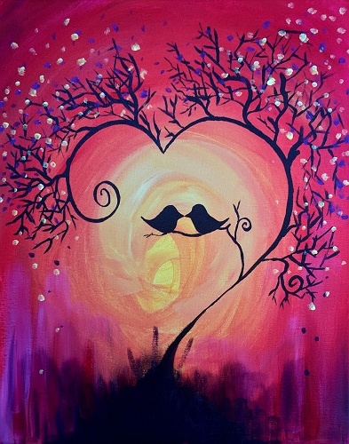 Paint nite fall ing in love for Cute simple paintings