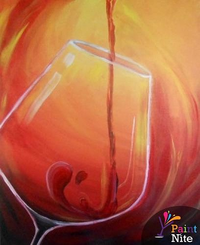 paint nite red wine 1