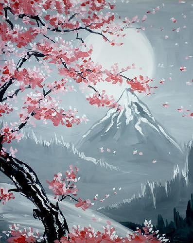Paint Nite Simi Cherry Blossoms