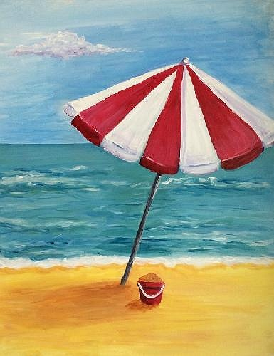 paint nite beach umbrella