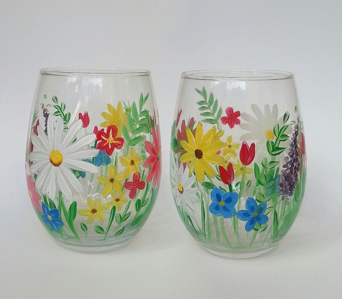 Paint Wine Glasses Long Island