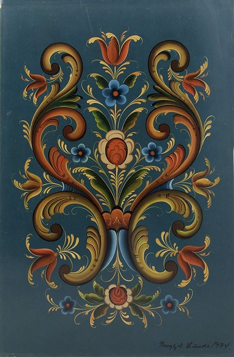Used Cars Long Island >> Norwegian Rosemaling Painting