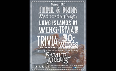 Wednesday, May 11th- Think and Drink with Sam Adams.