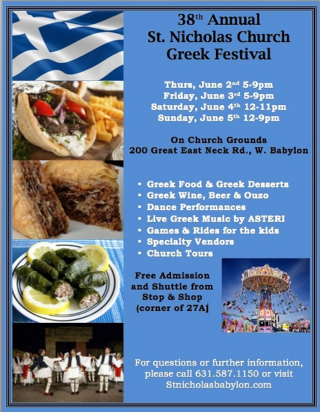 St Nicholas Greek Food Festival