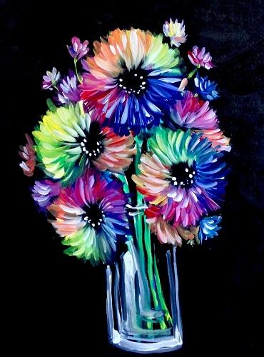 Paint Nite Andromeda Flowers In A Vase