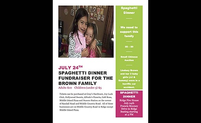 Spaghetti Dinner & Chinese Auction for the Brown Family