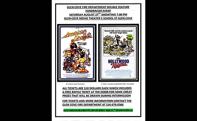 Glen Cove Volunteer Fire Department's Double Feature Movie Night