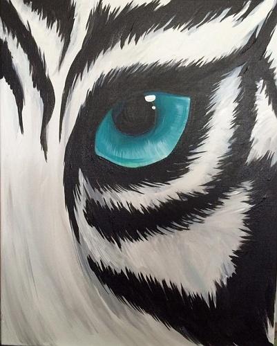 Paint Nite: White Tiger Gaze