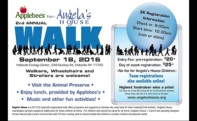 Applebee's 2nd Annual 3K Walk for Angela's House