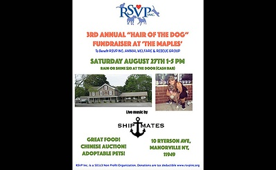 Animal Welfare and Rescue Group 3rd Annual Hair of the Dog Fundraiser/Adoption Event
