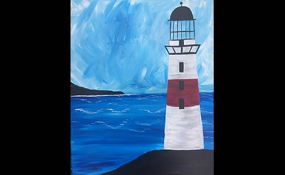 Paint Nite: Lighthouse By The Sea