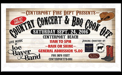 Centerport Fire Department Country Concert & Cook-off