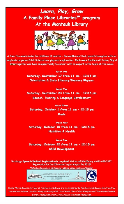 Learn, Play, Grow: A Parent/Child Workshop