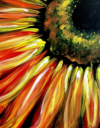 Golf Cars For Sale >> Paint Nite: Fiery Sunflower