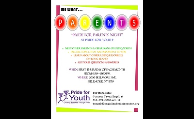 Pride for Parents Night