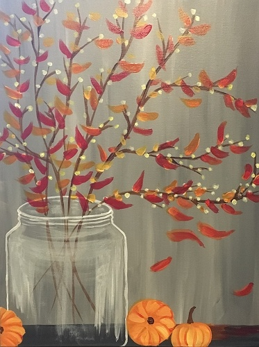 Paint nite autumn willows for Craft party long island