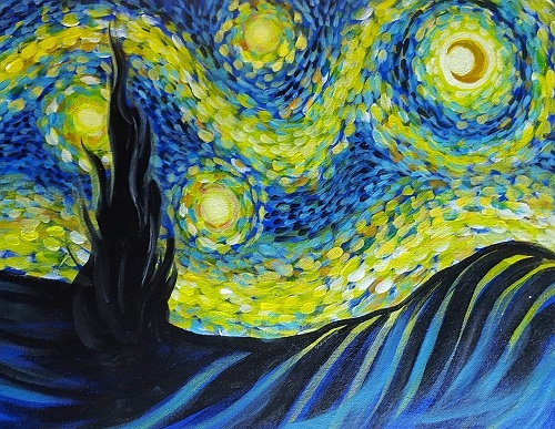 Limousine For Sale >> Paint Nite: Fanciful Starry Night