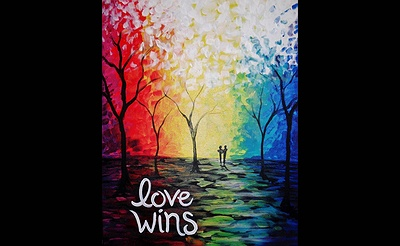 Paint Nite: Love Wins