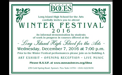 Long Island High School For The Arts Hosts Winter Talent Festival