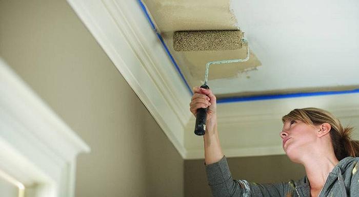 diy workshop interior paint drywall repair
