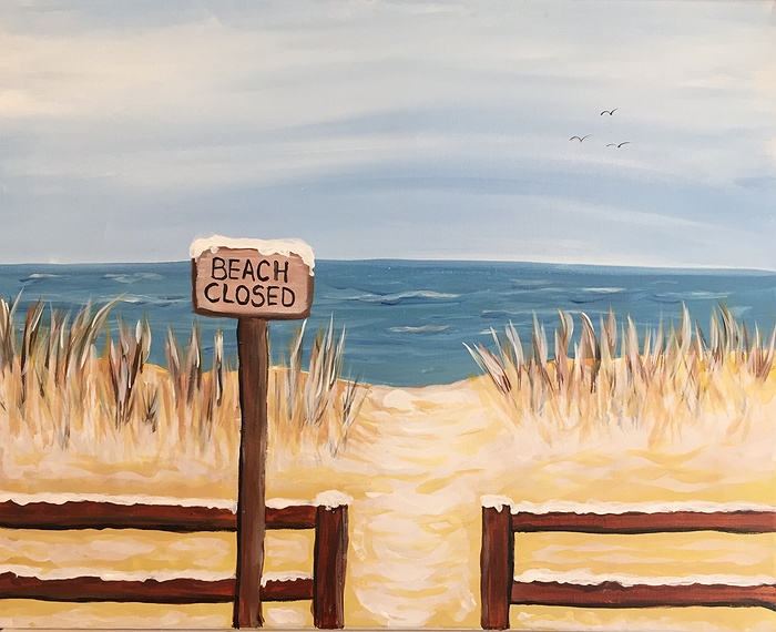 paint nite beach closed