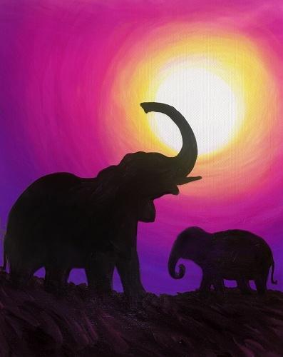 Paint Nite Elephant Meadow
