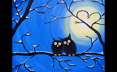 Paint Nite: Winter Owls