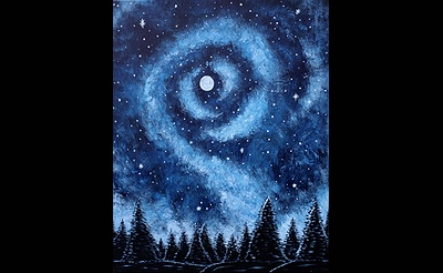 Paint Nite: Starry Galaxy In Blue