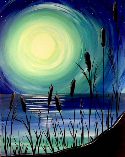 Limos For Sale >> Paint Nite: Beach Moonlight
