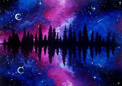Paint Nite Galaxy At Pine Lake