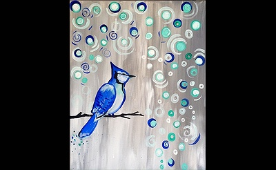 Paint Nite: Baby, It's Cold Outside