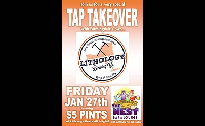 Lithology Brewery Tap Takeover at The Nest Beer Bar & Lounge