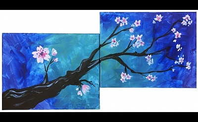 Paint Nite: Branch Blossoms Partner Painting