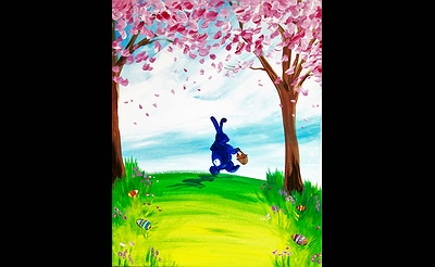 Paint Nite: Easter Bunny Hops To It