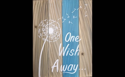 Paint Nite: One Wish Away Sign