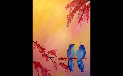 Paint Nite: Bluebirds In Love