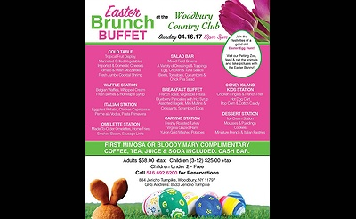 Easter Brunch Buffet at Woodbury Country Club
