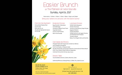 Easter Brunch at The Mansion at West Sayville