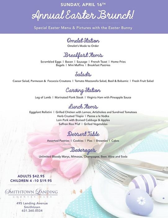 Restaurants For Easter Brunch Long Island