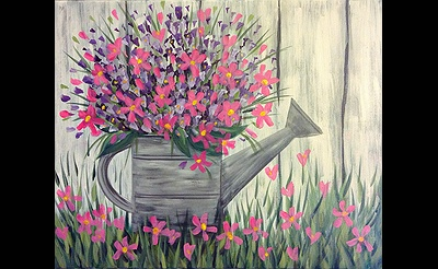 Paint Nite: Picking Posies